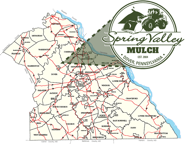 Spring Valley Mulch Made in York County Map
